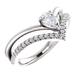Pear Forever One™ Moissanite & Diamond Ring