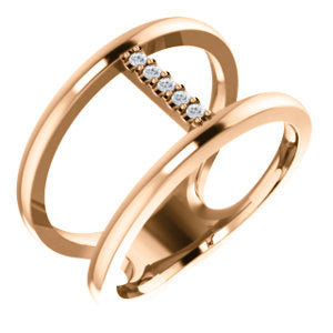 14K .04 CTW Diamond Negative Space Ring 7