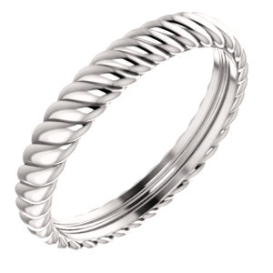 14K 3.75mm Thick Rope Band Ring