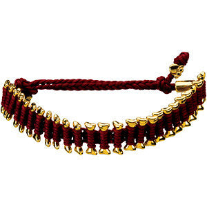 Burgundy Heart U Back™ Friendship Bracelet