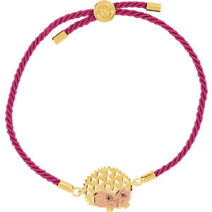 18K Yellow & Rose Vermeil Hedgehog Pink Satin 8