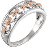 14K Two Tone Link Ring