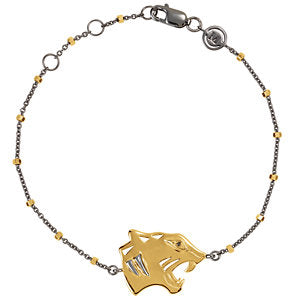 "18K Yellow Vermeil Tiger Black Rhodium-Plated 7.5"" Bracelet for Power"
