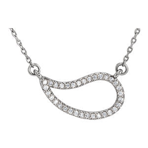 "14K White 1/6 CTW Diamond 18"" Necklace"