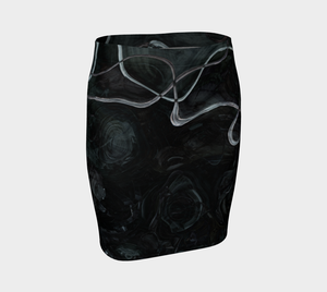 Fitted Skirt - Abstract - Black - Daily Art Fixx