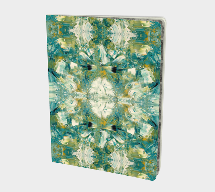 Notebook - Large Abstract Attack - Green - Daily Art Fixx