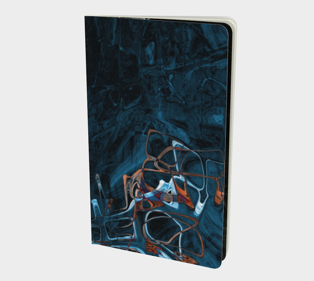 Sketchbook - Abstract Attack - Blue Black - Daily Art Fixx