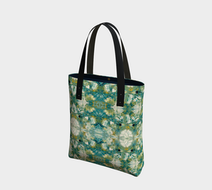 Canvas Tote Bag - Abstract Attack - Green - Daily Art Fixx