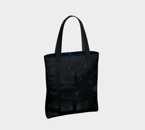 Canvas Tote - Abstract Attack - Black - Daily Art Fixx