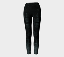 Yoga Leggings - Abstract Attack - Black - Daily Art Fixx
