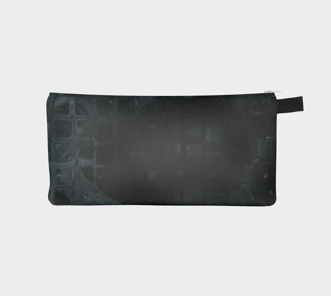 Pencil Case / Clutch - Abstract Attack - Black - Daily Art Fixx