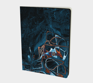Sketchbook - Large - Abstract Attack - Blue Black - Daily Art Fixx