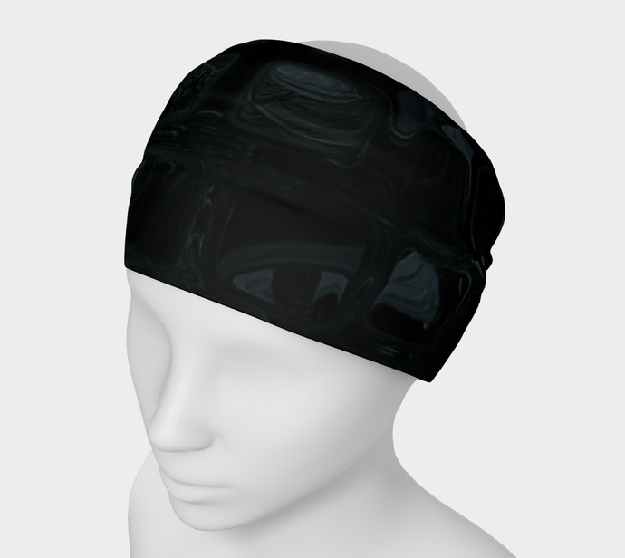 Headband - Abstract Attack - Black - Daily Art Fixx