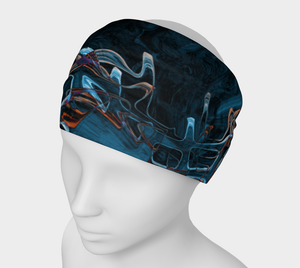 Headband - Abstract Attack - Blue Black - Daily Art Fixx