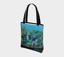 Canvas Tote Bag - Blue City - Daily Art Fixx