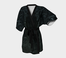 Kimono Robe - Abstract Attack - Black - Daily Art Fixx