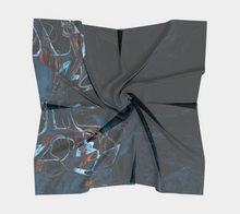 Square Scarf - Abstract Attack - Blue Black - Daily Art Fixx