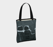Canvas Tote - Abstract Attack - Charcoal - Daily Art Fixx