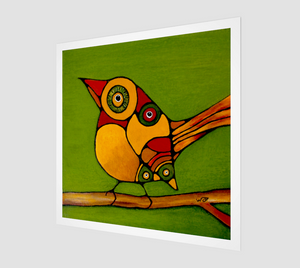 Fine Art Print  - Birds On A Branch - Daily Art Fixx