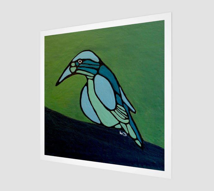 Fine Art Print - Blue Bird - Daily Art Fixx