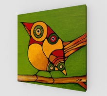 Art Print  - Canvas - Birds On A Branch - Daily Art Fixx
