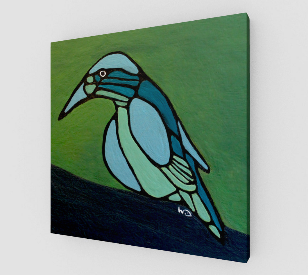 Art Print - Canvas - Blue Bird - Daily Art Fixx