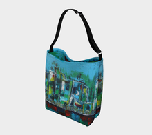 Stretchy Tote - Blue City - Daily Art Fixx