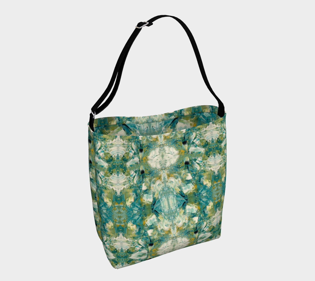 Stretchy Tote - Abstract Attack - Green - Daily Art Fixx