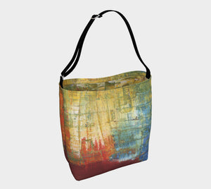Stretchy Tote  - Red Grunge - Daily Art Fixx