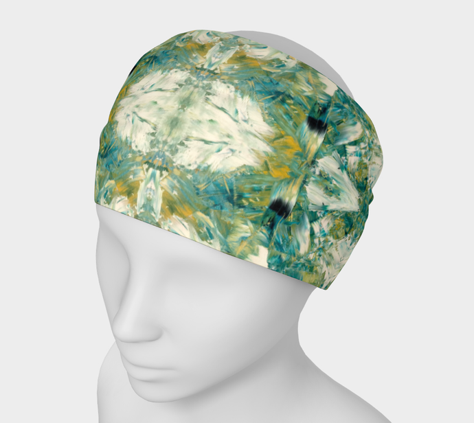 Headband - Abstract Attack - Green - Daily Art Fixx