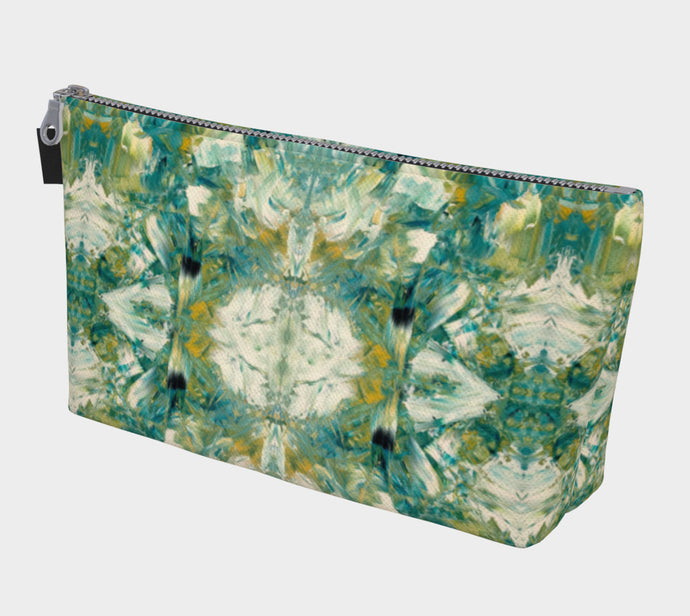 Make-up / Travel Bag - Abstract Attack - Green - Daily Art Fixx