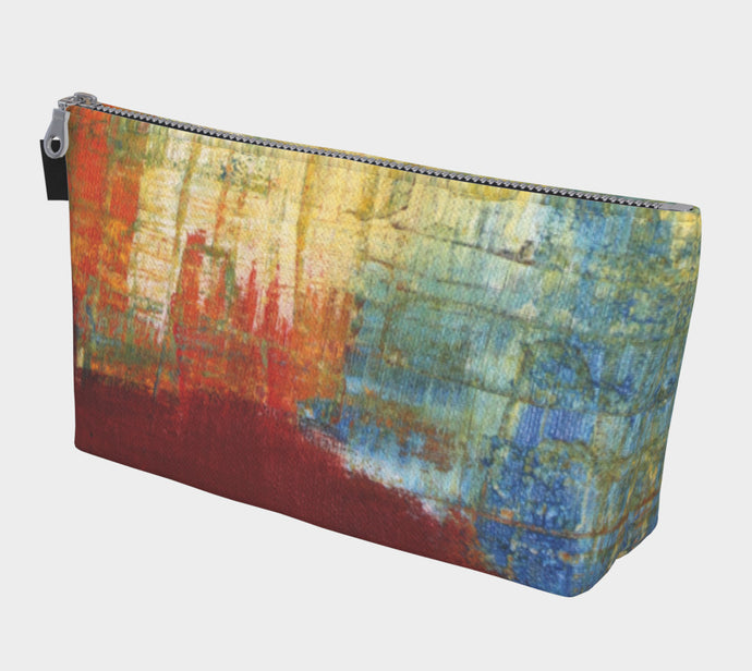 Make-up/Travel Bag - Red Grunge - Daily Art Fixx