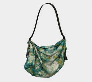 Origami Bag - Abstract Attack - Green - Daily Art Fixx