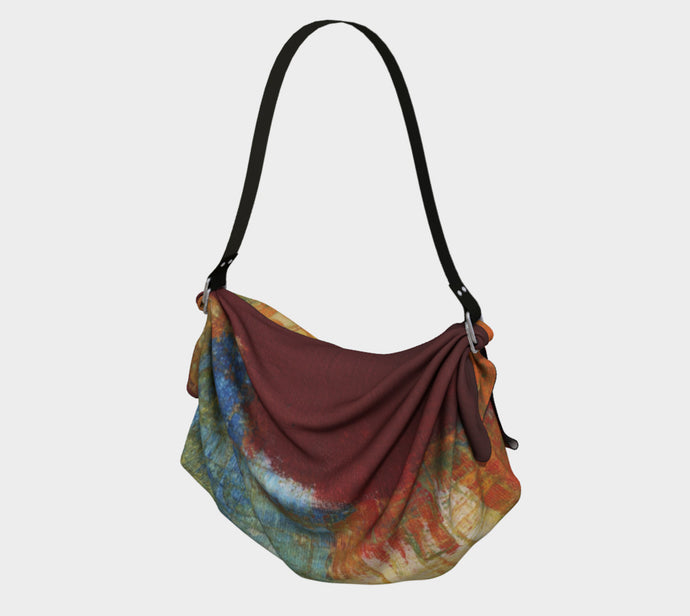 Origami Bag  - Red Grunge - Daily Art Fixx