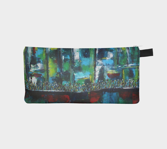 Pencil Case/Clutch - Blue City - Daily Art Fixx