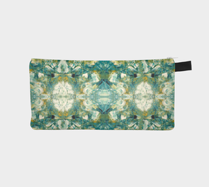Pencil Case/Clutch - Abstract Attack - Green - Daily Art Fixx