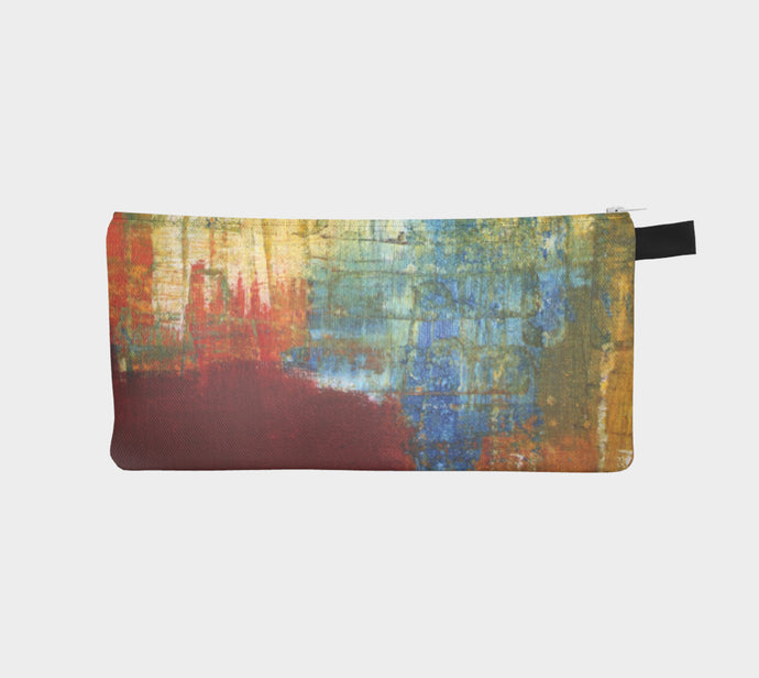 Pencil Case - Red Grunge - Daily Art Fixx