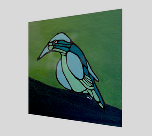 Art Print - Poster - Blue Bird - Daily Art Fixx