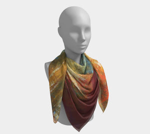 Square Scarf - Red Grunge - Daily Art Fixx
