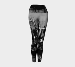Yoga Leggings - City - Black & White - Daily Art Fixx