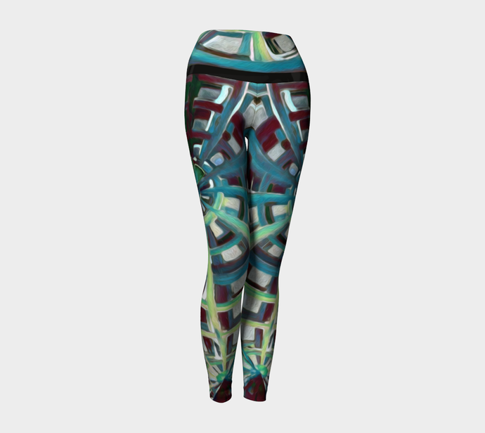 Yoga Leggings - Butterfly Groove - Daily Art Fixx