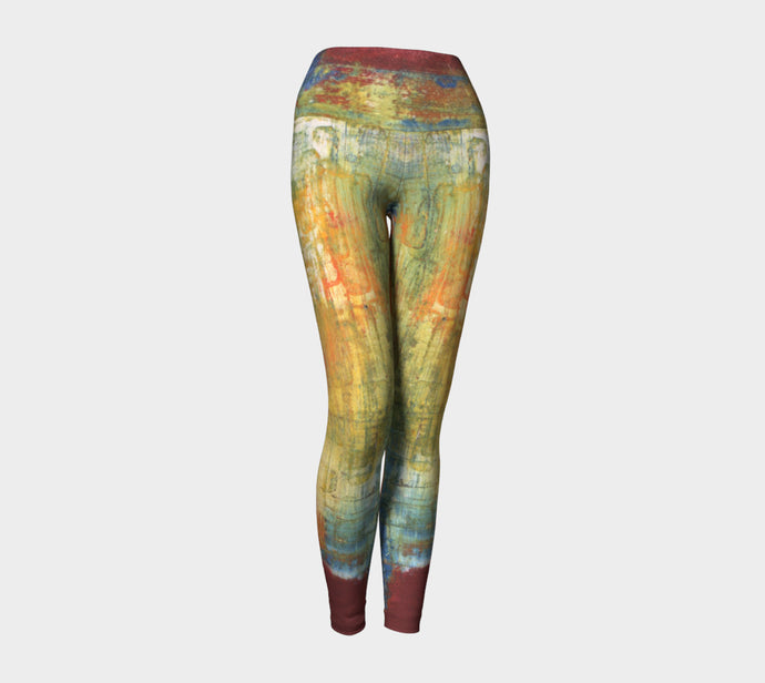 Yoga Leggings - Red Grunge - Daily Art Fixx