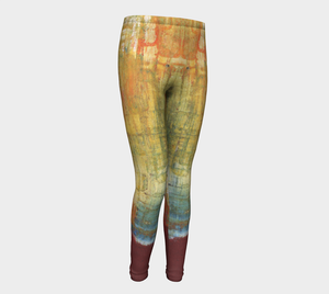 Youth Leggings - Red Grunge - Daily Art Fixx