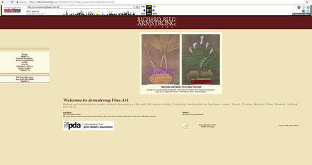 Websites: a history of Armstrong Fine Art online