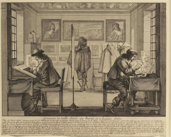 Abraham Bosse - The Engraver and the Etcher - 1643 - Etching - David Kabakoff Collection