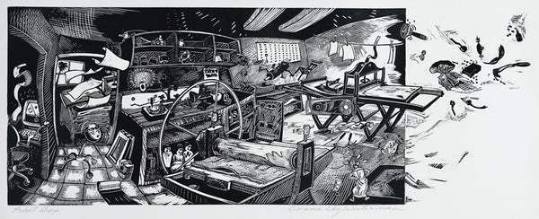 Donna Westerman - The Print Shop - 2004 - Woodblock print - David Kabakoff Collection