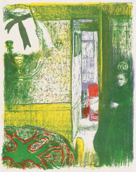 Edouard Vuillard - Paysages et Interieurs - Interieur a la suspension - interior with ceiling lamp - original color lithograph