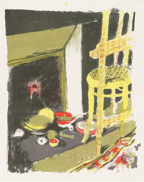 Edouard Vuillard - Paysages et Interieurs - l'Atre - The Hearth fireplace - original color lithograph