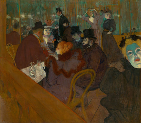 Henri de Toulouse-Lautrec - Moulin Rouge - Life of the Party - Paris oil painting