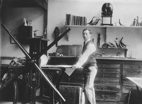 Joseph Hecht in his studio